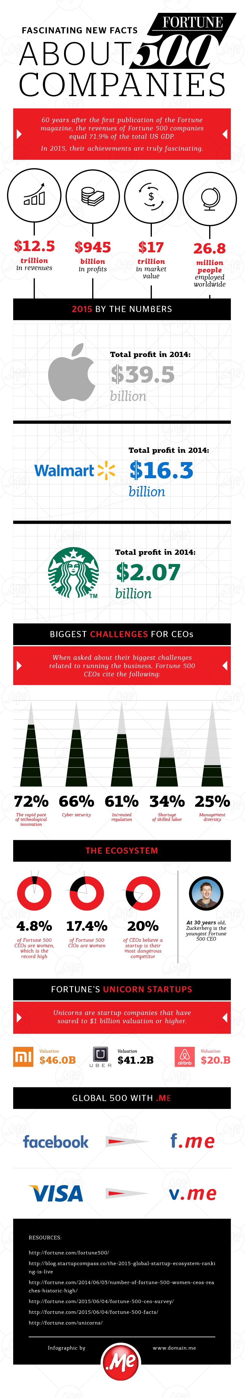 Infographic - Fascinating new facts about Fortune 500 companies