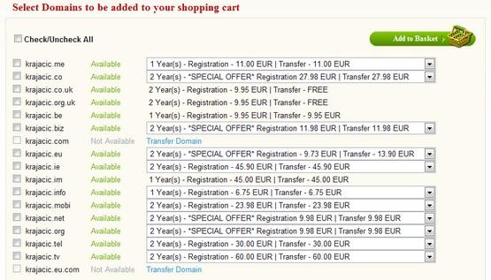 Blacknight domain registration process