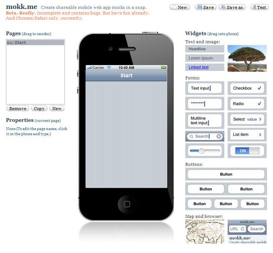 mokkme interface - Mobile Mockup Tools